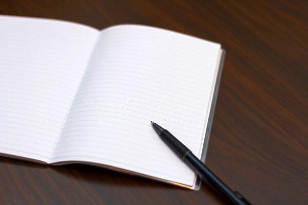 書きたいことを紙にアウトプットする