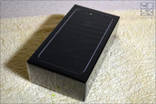 iPhone7Plusジェットブラックの外箱